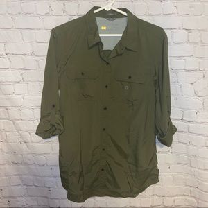 Eddie Bauer button down top new with tags med tall
